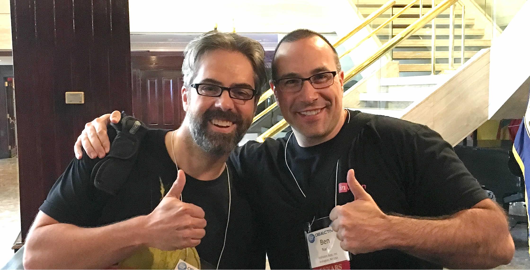 Ben Nadel at cf.Objective() 2017 (Washington, D.C.) with: David Colvin