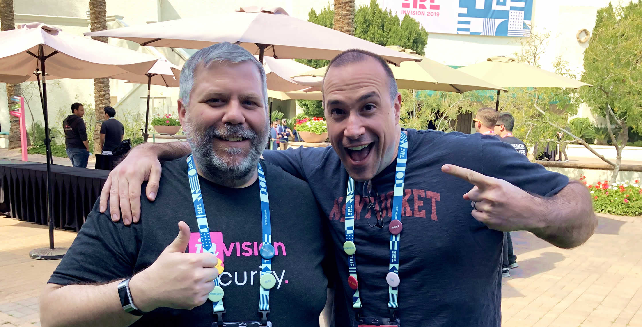 Ben Nadel at InVision In Real Life (IRL) 2019 (Phoenix, AZ) with: David Epler