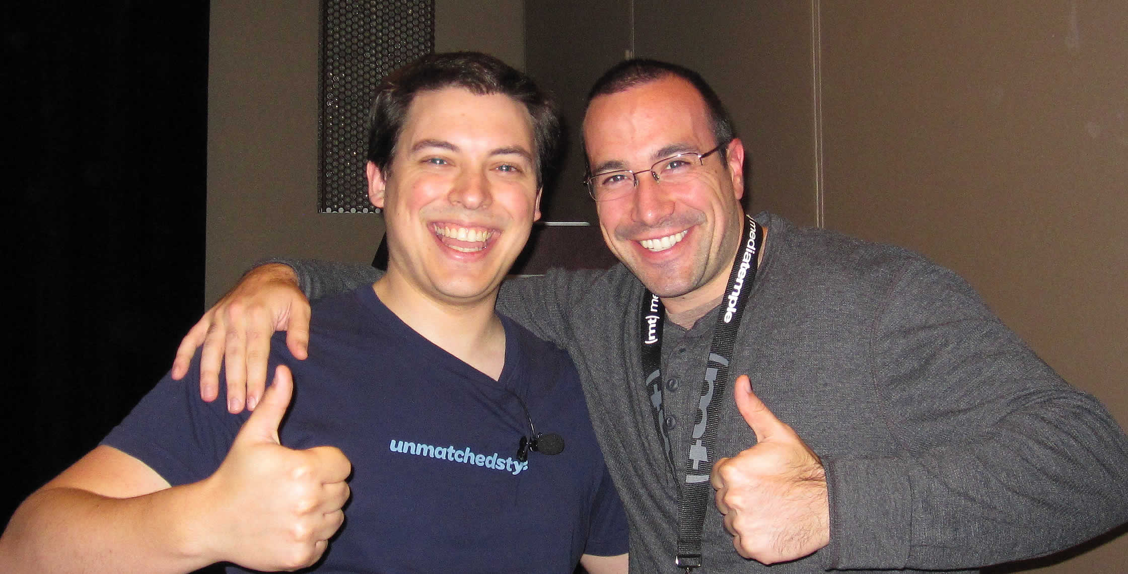 Ben Nadel at the jQuery Conference 2011 (Cambridge, MA) with: Doug Neiner