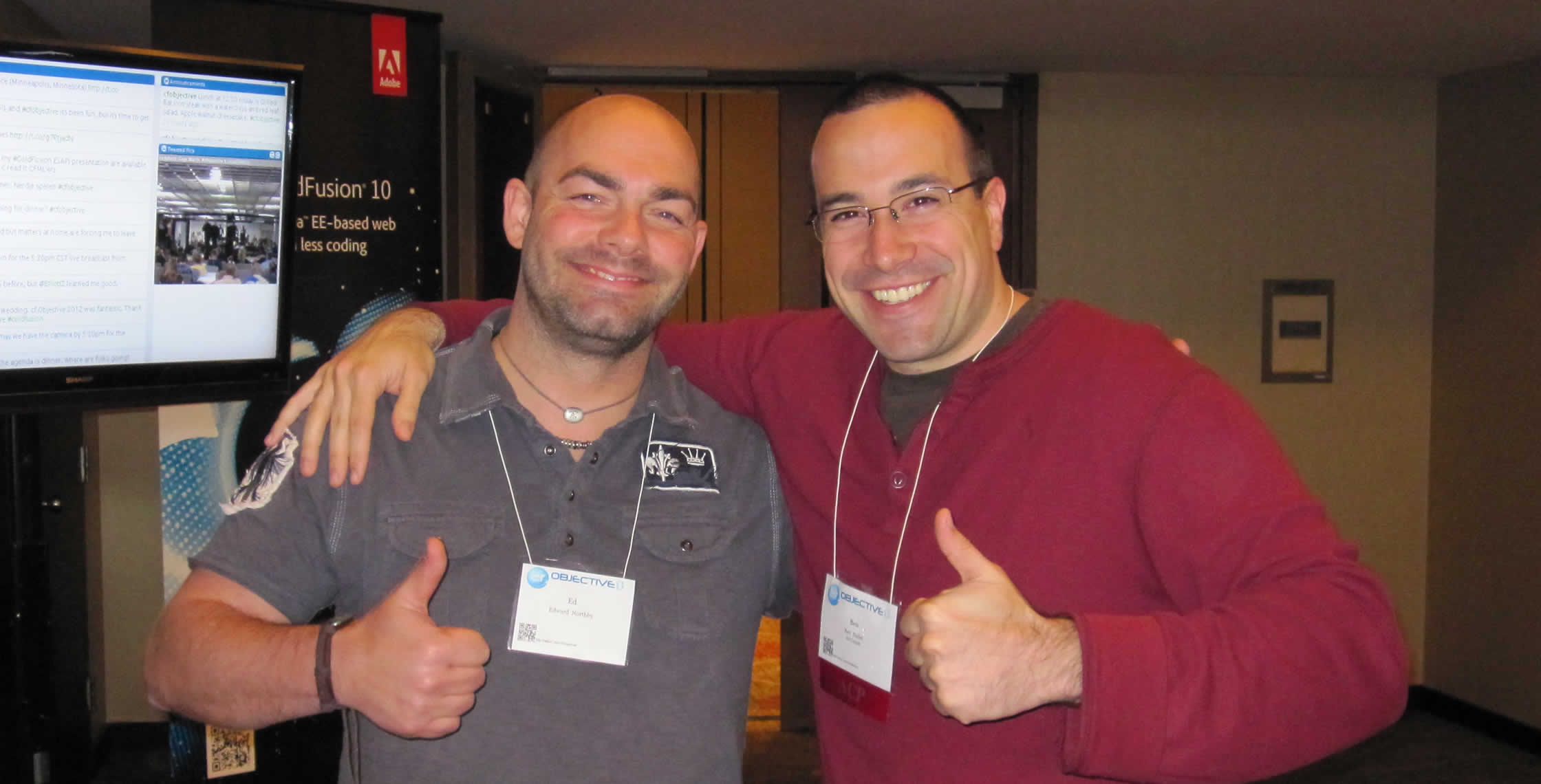 Ben Nadel at cf.Objective() 2012 (Minneapolis, MN) with: Ed Northby