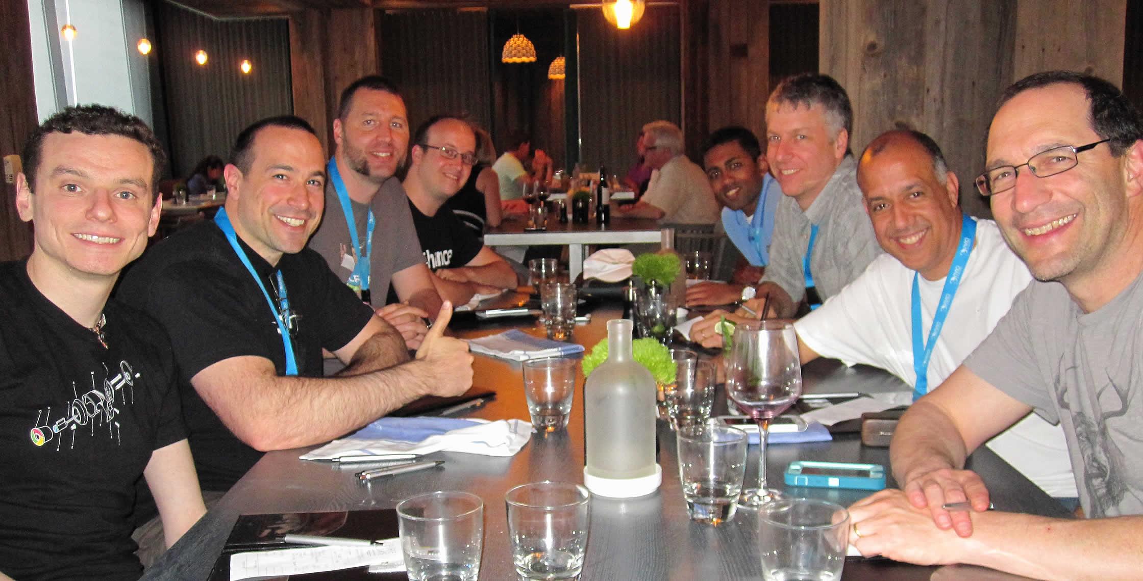 Ben Nadel at cf.Objective() 2013 (Bloomington, MN) with: Elliott Sprehn, Chris Phillips, Nathan Strutz, Anant Pradhan, Dave DeVol, Byron Raines, and Gerry Gurevich