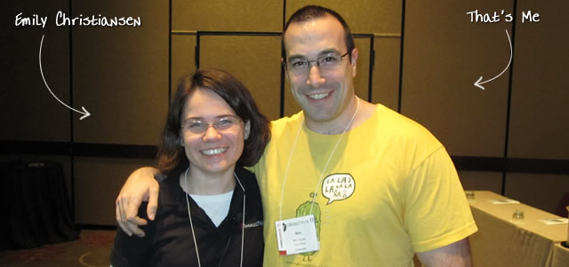 Ben Nadel at cf.Objective() 2010 (Minneapolis, MN) with: Emily Christiansen