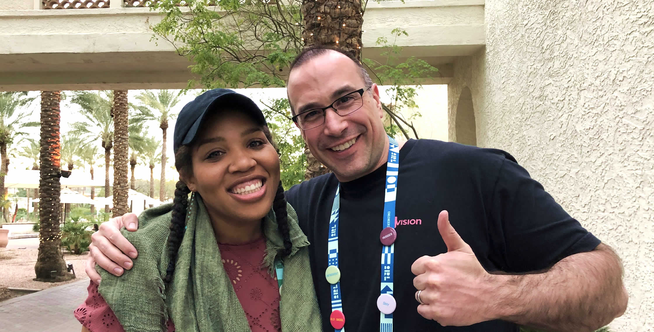 Ben Nadel at InVision In Real Life (IRL) 2019 (Phoenix, AZ) with: Erica Simmons