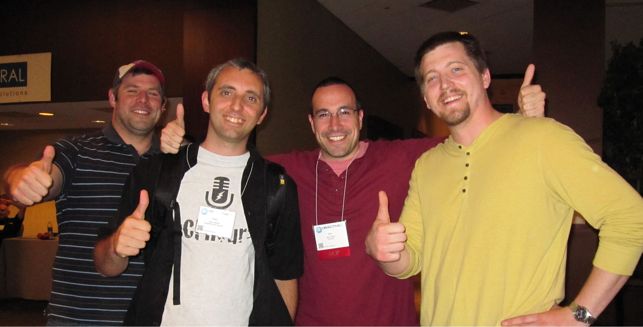 Ben Nadel at cf.Objective() 2012 (Minneapolis, MN) with: Erik Meier, Jesse Shaffer, and Bob Gray