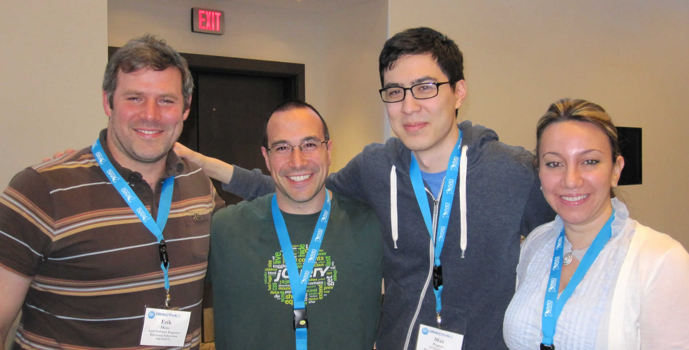 Ben Nadel at cf.Objective() 2013 (Bloomington, MN) with: Erik Meier, Max Pappas, and Reem Jaghlit