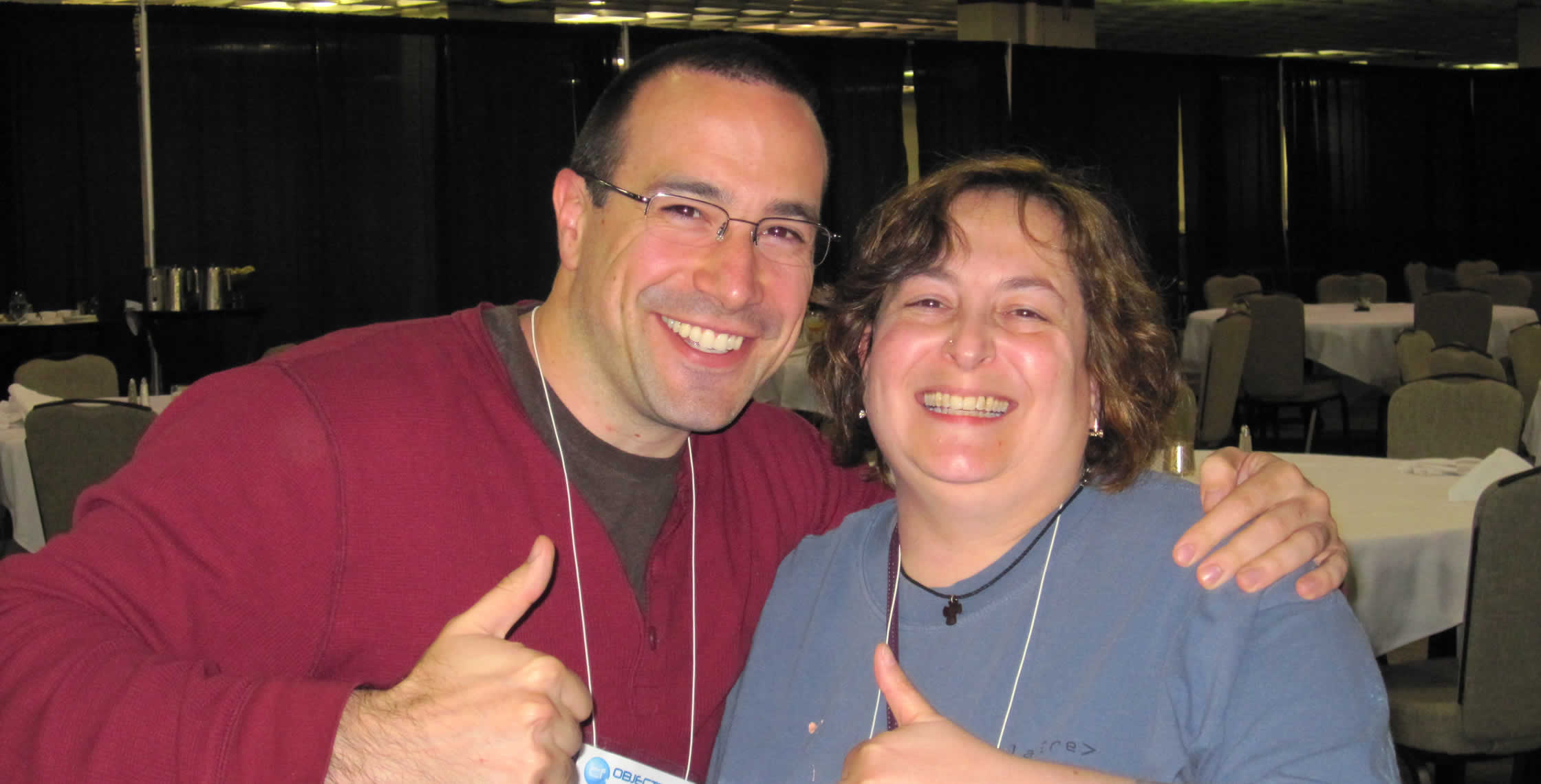 Ben Nadel at cf.Objective() 2012 (Minneapolis, MN) with: Francine Brady