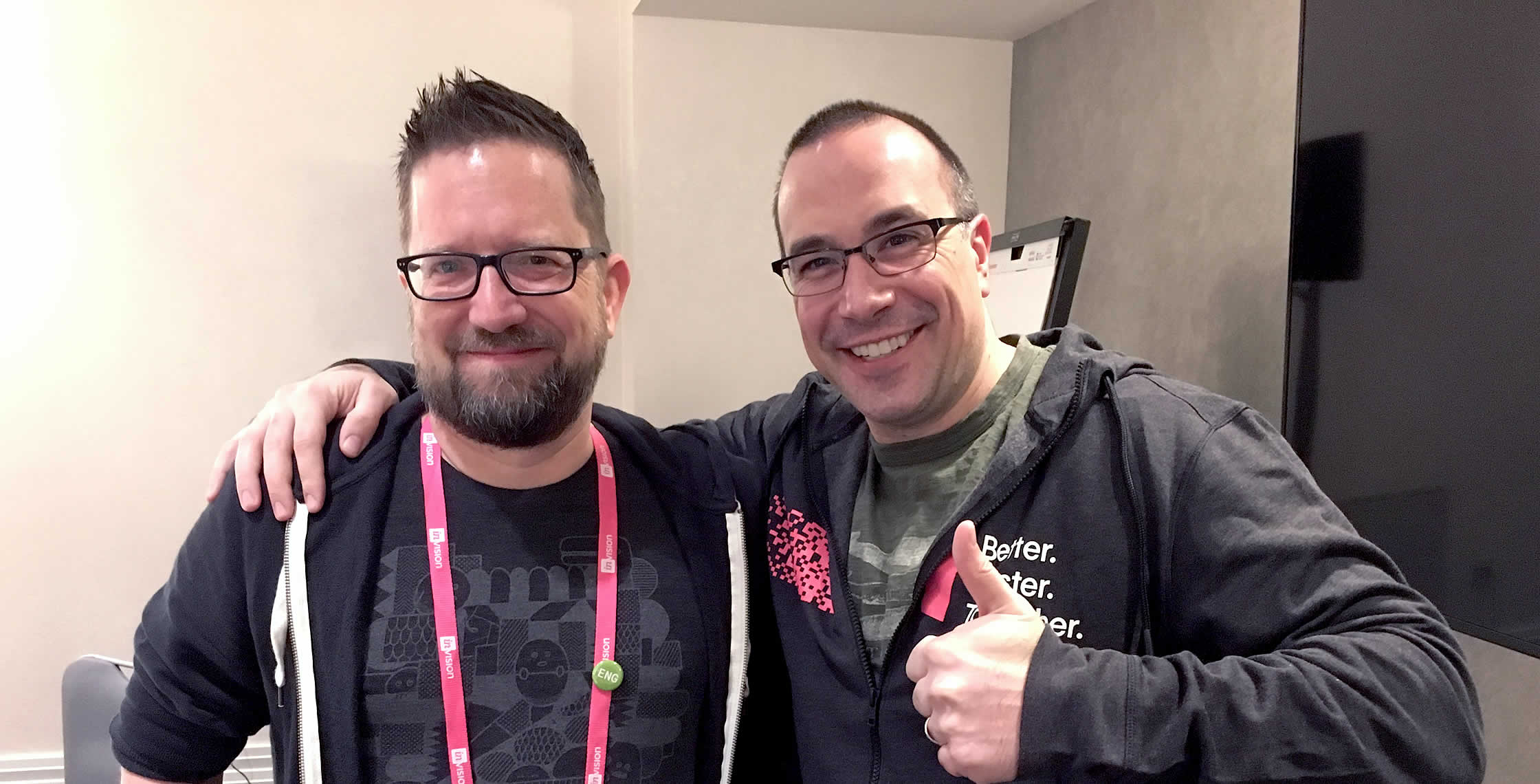 Ben Nadel at InVision In Real Life (IRL) 2018 (Hollywood, CA) with: Gabriel Zeck