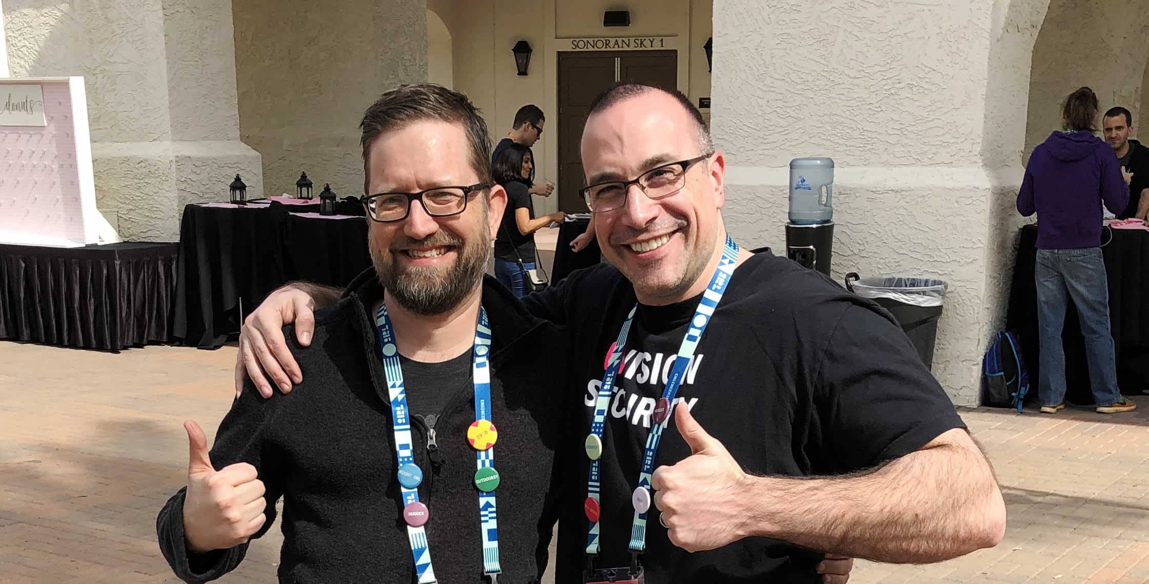Ben Nadel at InVision In Real Life (IRL) 2019 (Phoenix, AZ) with: Gabriel Zeck