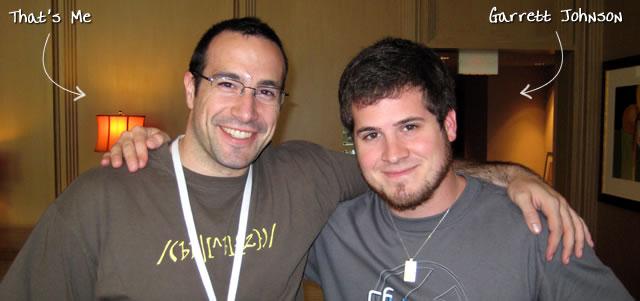 Ben Nadel at CFUNITED 2009 (Lansdowne, VA) with: Garrett Johnson