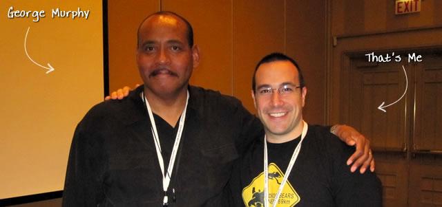 Ben Nadel at CFUNITED 2010 (Landsdown, VA) with: George Murphy