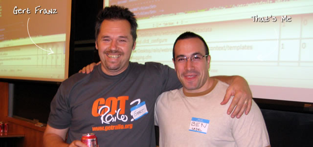 Ben Nadel at the New York ColdFusion User Group (May. 2009) with: Gert Franz