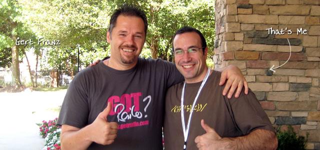 Ben Nadel at CFUNITED 2009 (Lansdowne, VA) with: Gert Franz