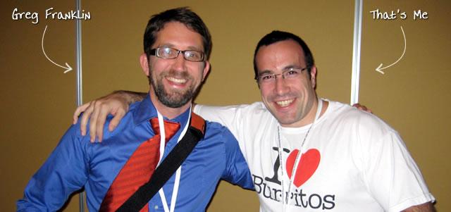 Ben Nadel at CFUNITED 2009 (Lansdowne, VA) with: Greg Franklin