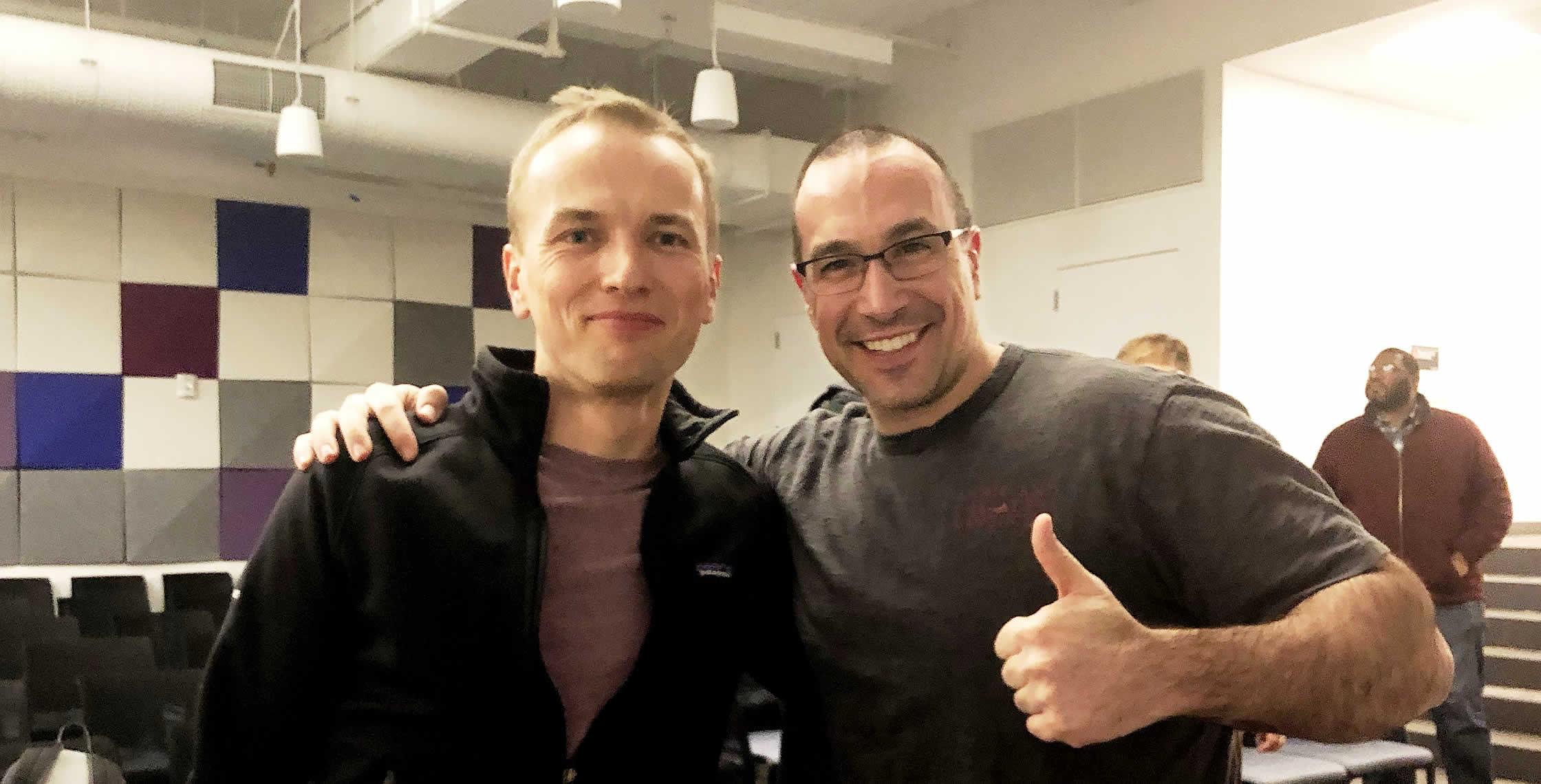 Ben Nadel at the Angular NYC Meetup (Jan. 2019) with: Igor Minar