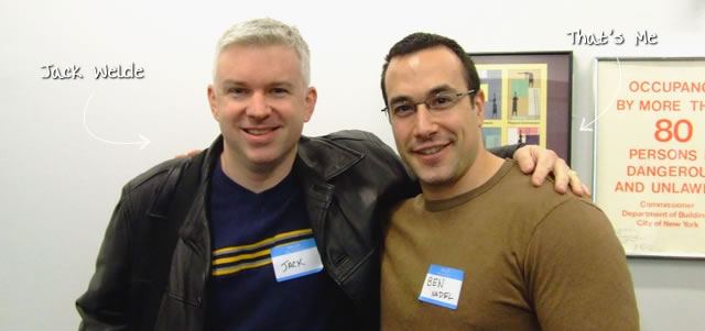 Ben Nadel at the New York ColdFusion User Group (Feb. 2009) with: Jack Welde