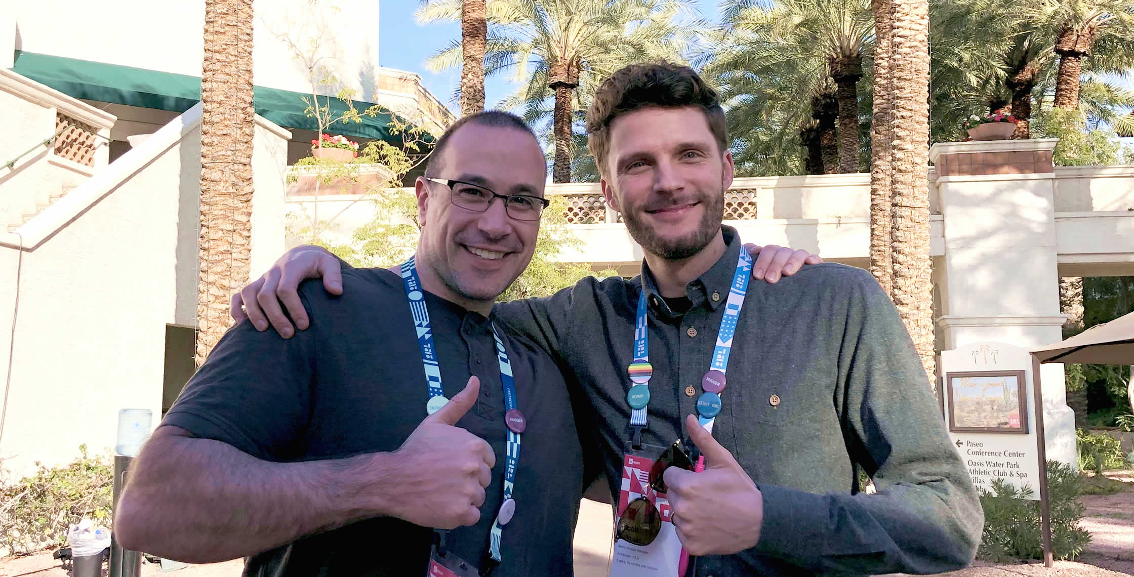 Ben Nadel at InVision In Real Life (IRL) 2019 (Phoenix, AZ) with: Jacob Holloway