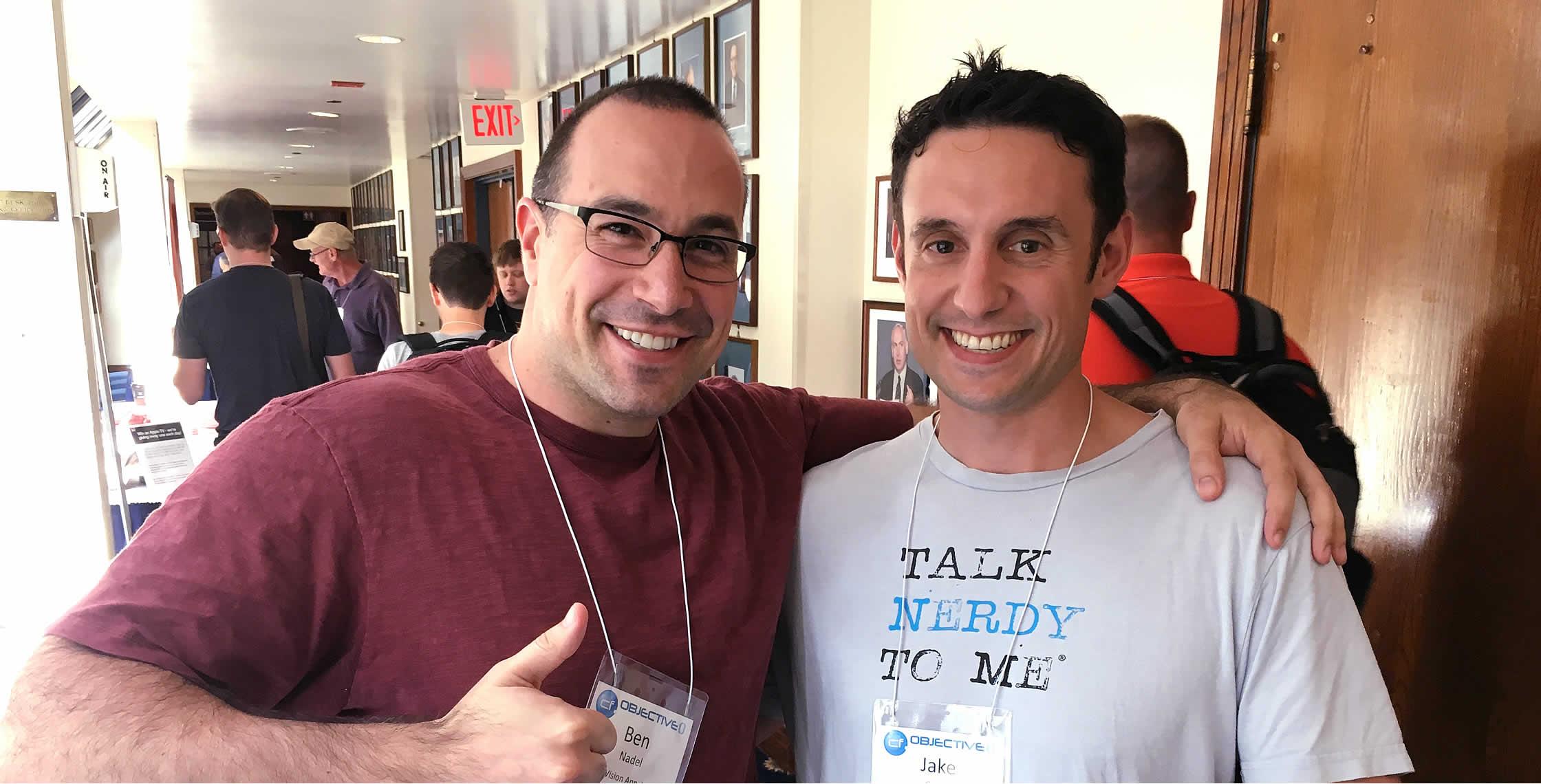 Ben Nadel at cf.Objective() 2017 (Washington, D.C.) with: Jake Scott