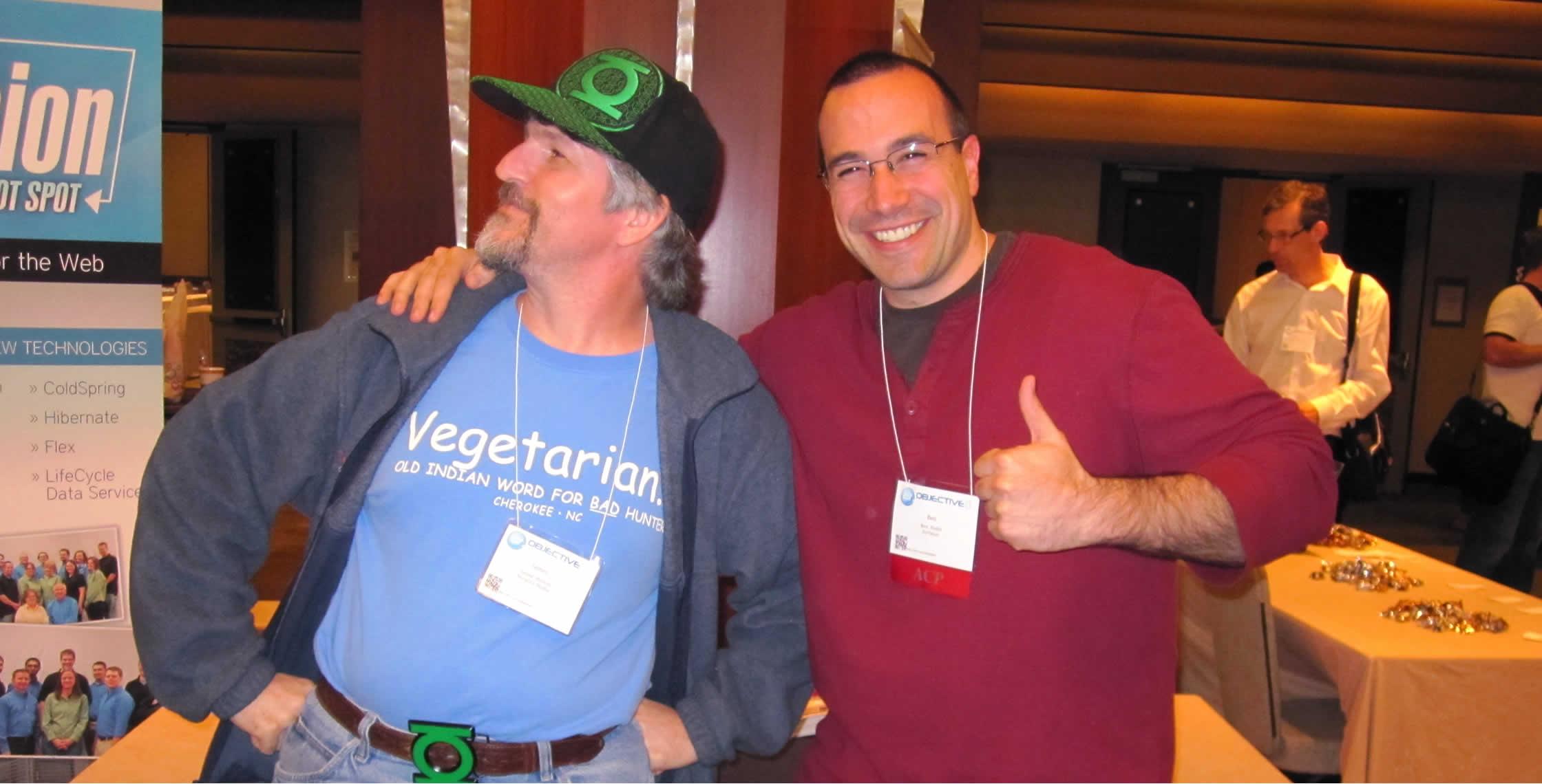 Ben Nadel at cf.Objective() 2012 (Minneapolis, MN) with: James Husum