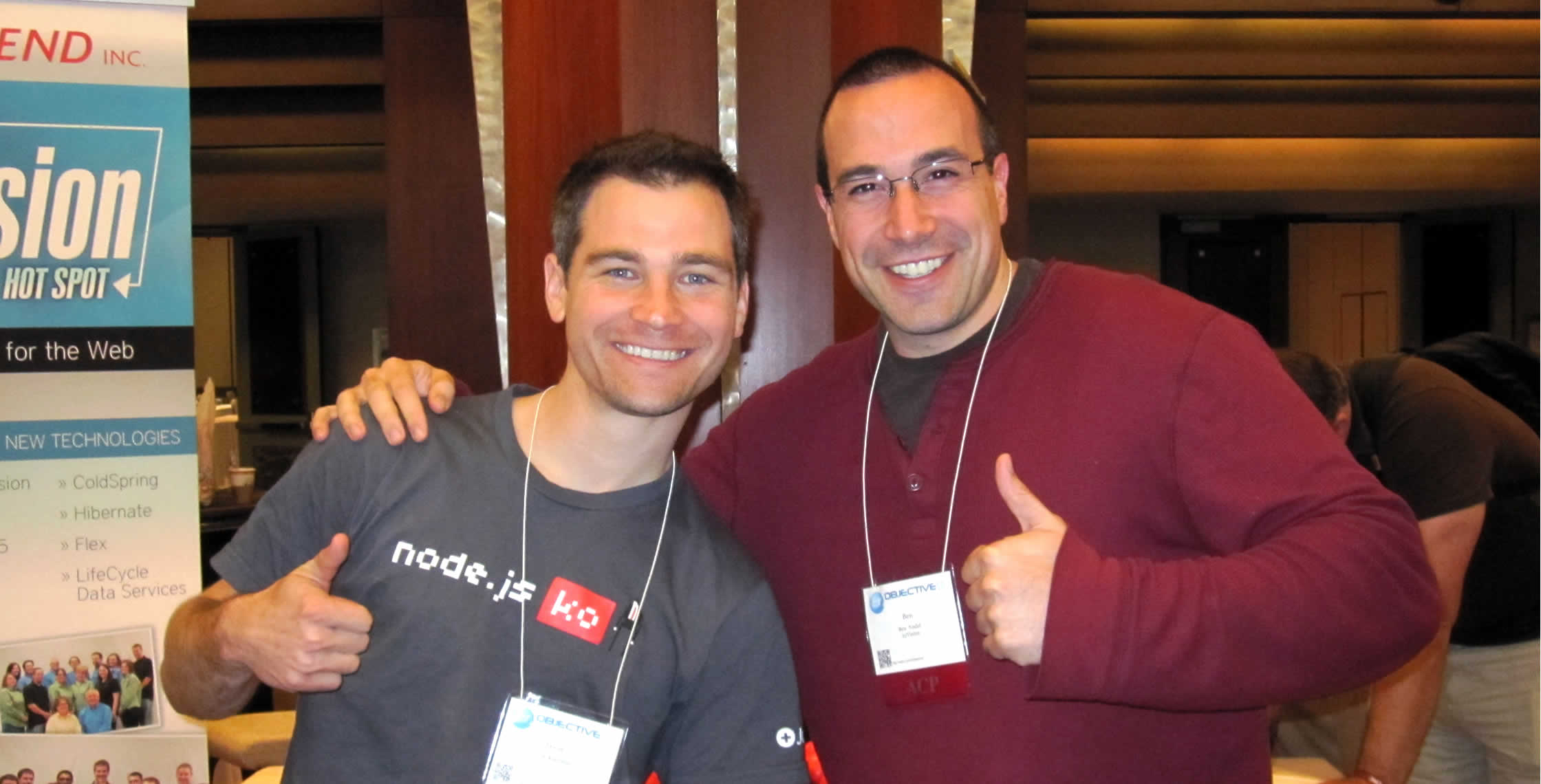 Ben Nadel at cf.Objective() 2012 (Minneapolis, MN) with: Jason Kadrmas
