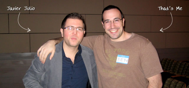 Ben Nadel at the New York ColdFusion User Group (Jan. 2010) with: Javier Julio