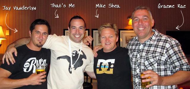 Ben Nadel at CFUNITED 2010 (Landsdown, VA) with: Jay Vanderlyn, Mike Shea, and Graeme Rae