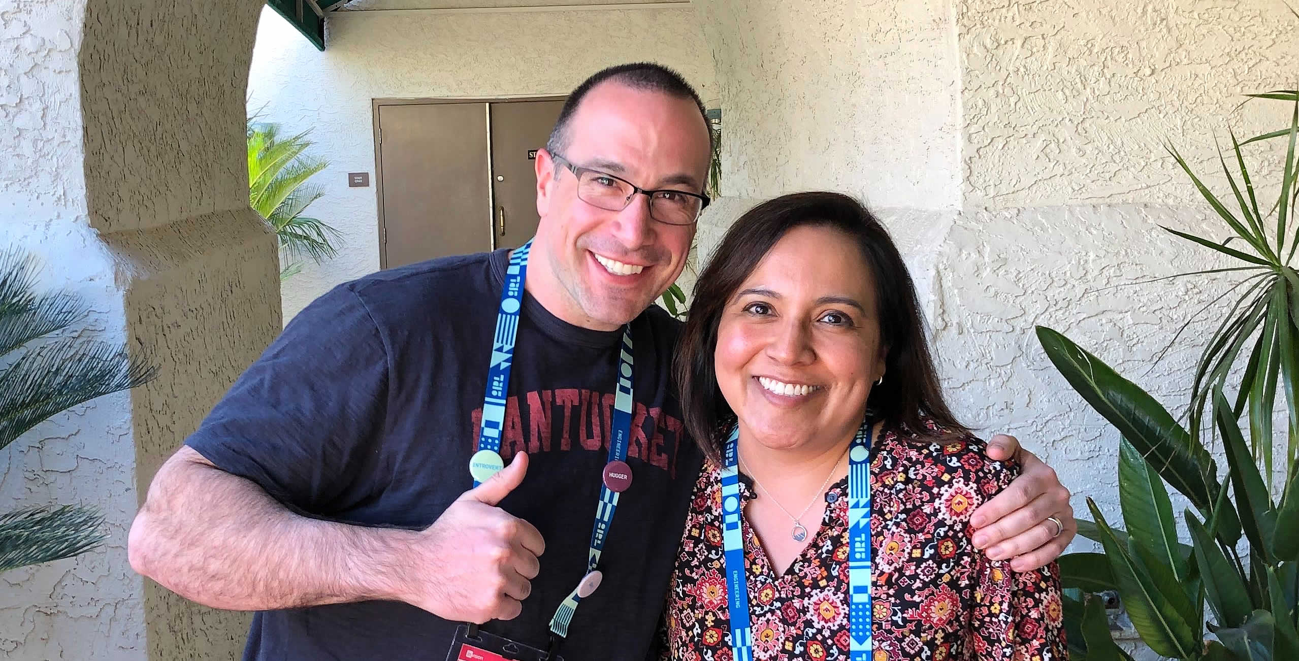 Ben Nadel at InVision In Real Life (IRL) 2019 (Phoenix, AZ) with: Jeanette Silvas