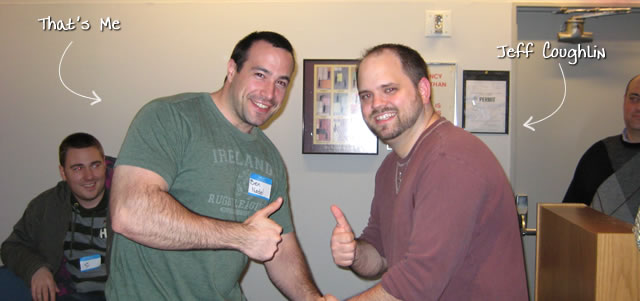 Ben Nadel at the New York ColdFusion User Group (Mar. 2009) with: Jeff Coughlin