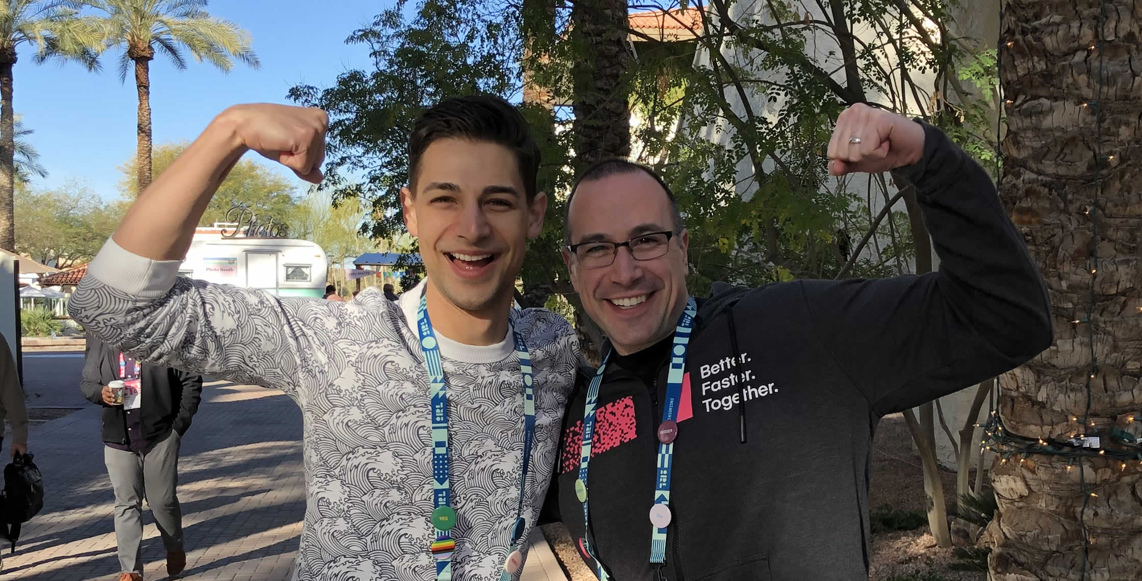 Ben Nadel at InVision In Real Life (IRL) 2019 (Phoenix, AZ) with: Jeremiah Lee