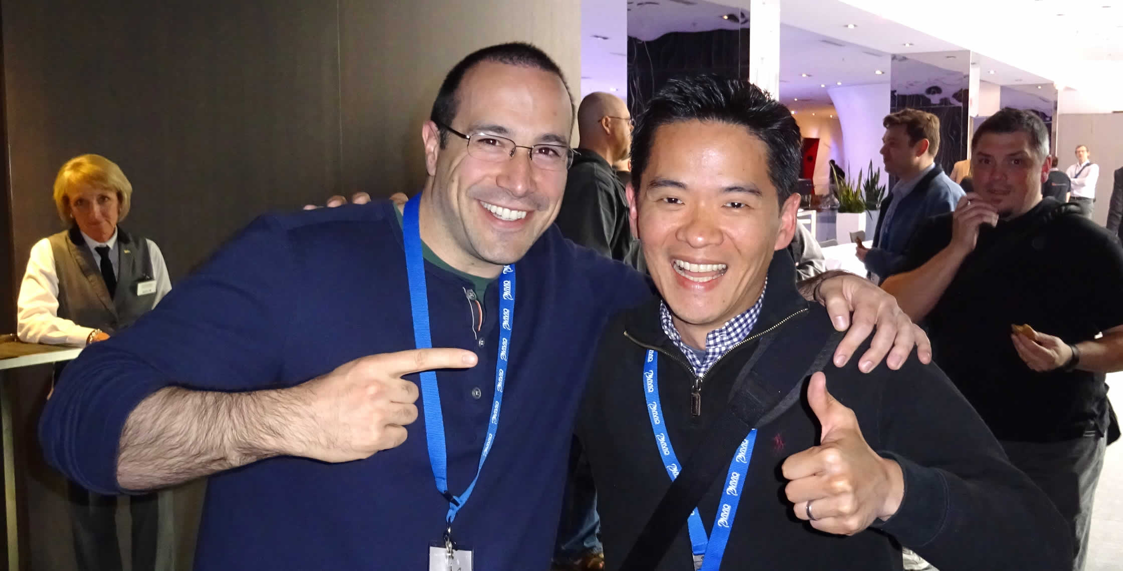 Ben Nadel at cf.Objective() 2014 (Bloomington, MN) with: Jin Park