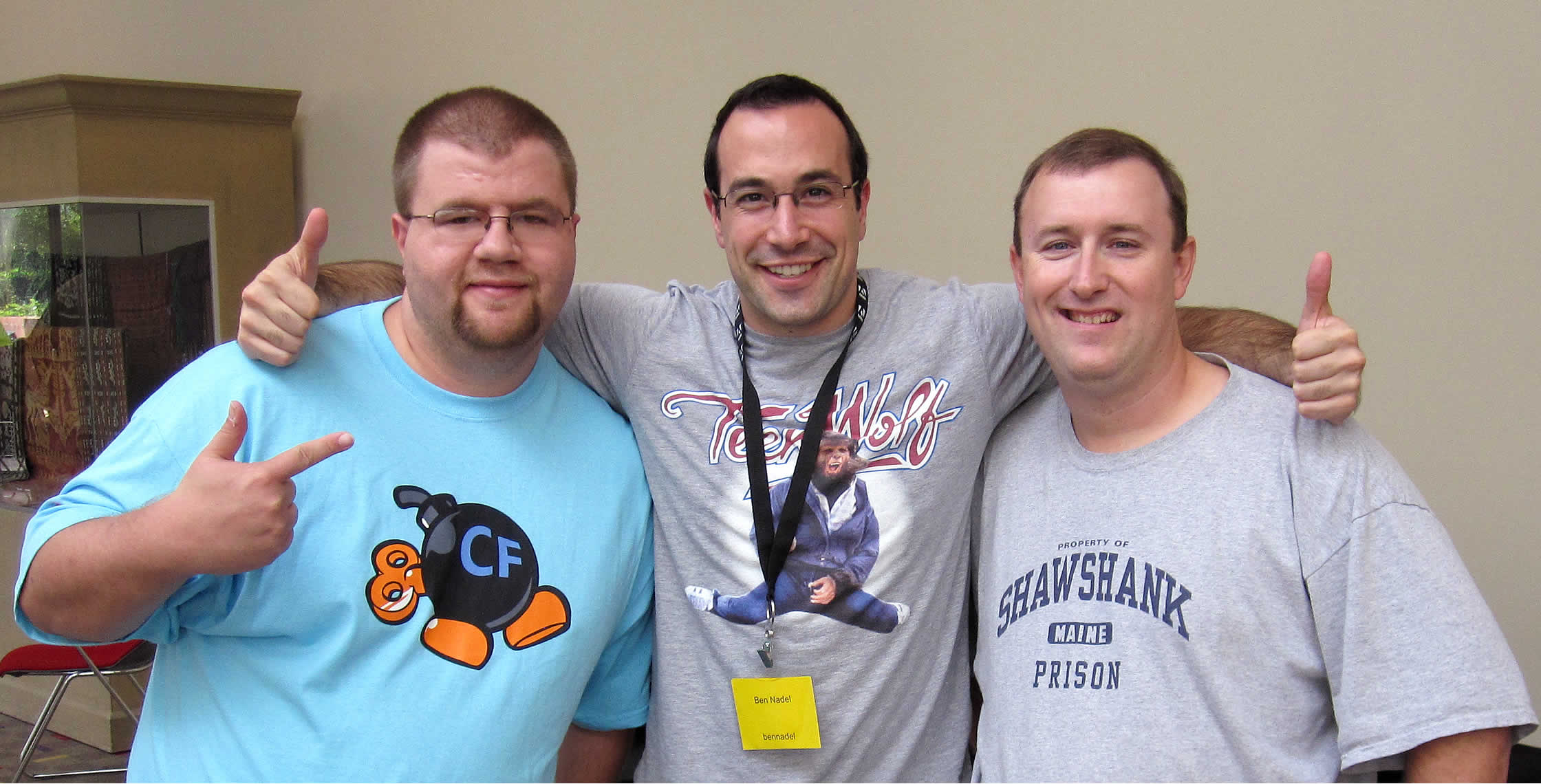 Ben Nadel at NCDevCon 2011 (Raleigh, NC) with: Joe Casper and Chris Bickford