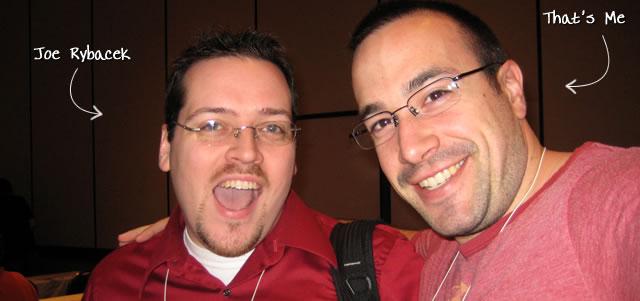 Ben Nadel at cf.Objective() 2009 (Minneapolis, MN) with: Joe Rybacek