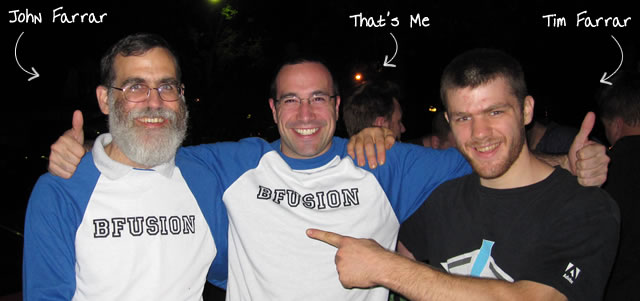 Ben Nadel at BFusion / BFLEX 2010 (Bloomington, Indiana) with: John Farrar and Timothy Farrar