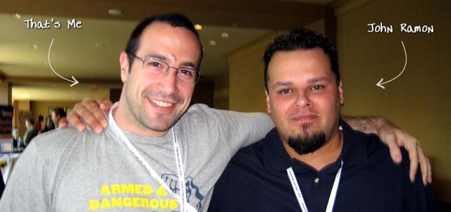Ben Nadel at CFUNITED 2009 (Lansdowne, VA) with: John Ramon