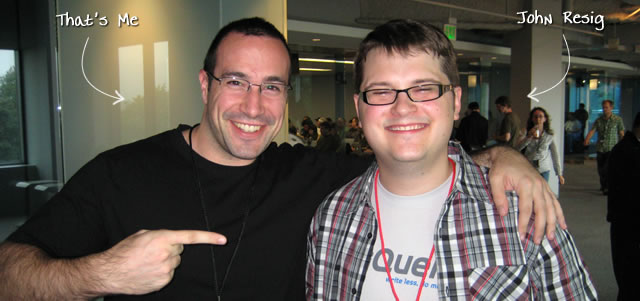 Ben Nadel at the jQuery Conference 2009 (Cambridge, MA) with: John Resig