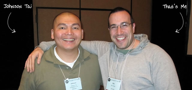 Ben Nadel at cf.Objective() 2011 (Minneapolis, MN) with: Johnson Tai