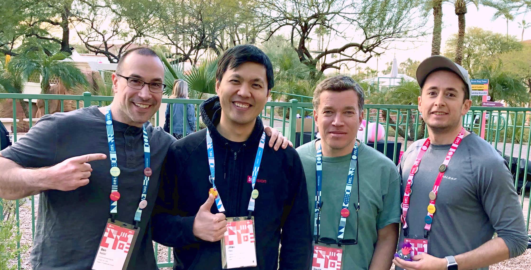 Ben Nadel at InVision In Real Life (IRL) 2019 (Phoenix, AZ) with: Jonathan Hau, David Bainbridge, and Scott Markovits