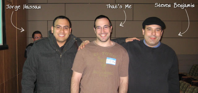 Ben Nadel at the New York ColdFusion User Group (Jan. 2010) with: Jorge Hassan and Steven Benjamin