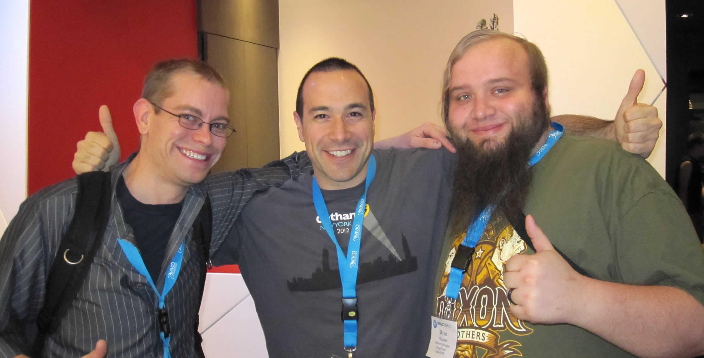 Ben Nadel at cf.Objective() 2013 (Bloomington, MN) with: Josh Knutson and Ryan Vikander