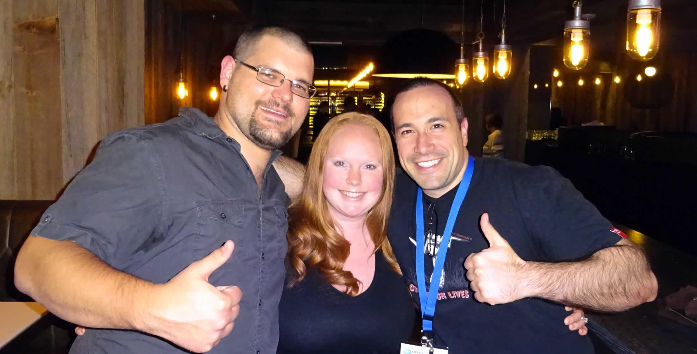 Ben Nadel at cf.Objective() 2014 (Bloomington, MN) with: Josh Siok and Megan Siok