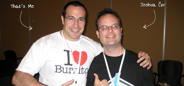 Ben Nadel at CFUNITED 2009 (Lansdowne, VA) with: Joshua Cyr