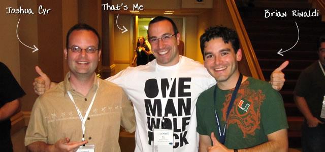 Ben Nadel at CFUNITED 2010 (Landsdown, VA) with: Joshua Cyr and Brian Rinaldi