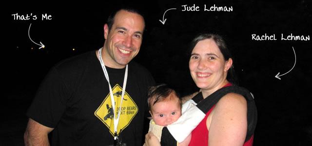 Ben Nadel at CFUNITED 2010 (Landsdown, VA) with: Jude Lehman and Rachel Lehman