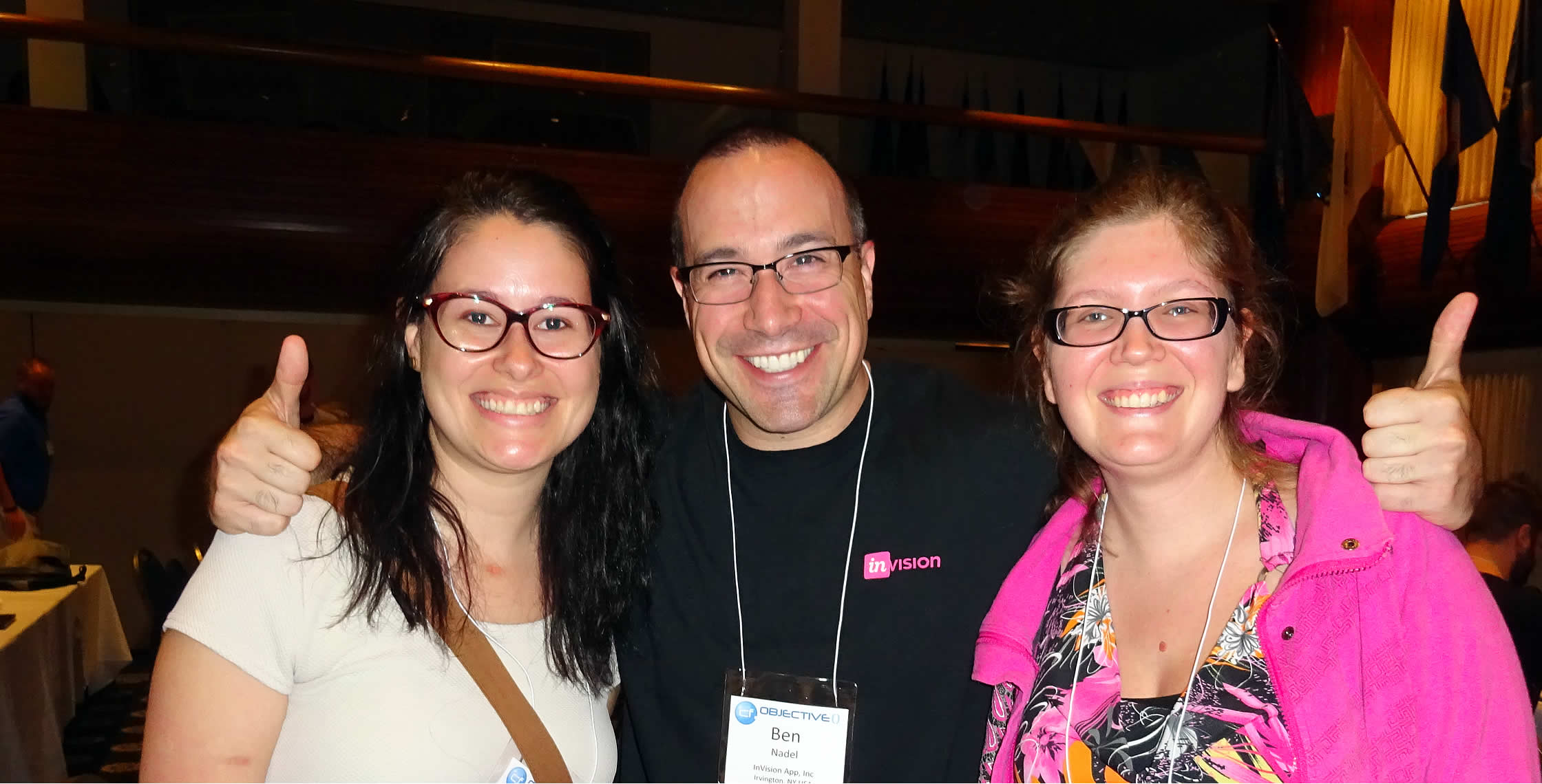Ben Nadel at cf.Objective() 2017 (Washington, D.C.) with: Julie Dion and Catherine Neault
