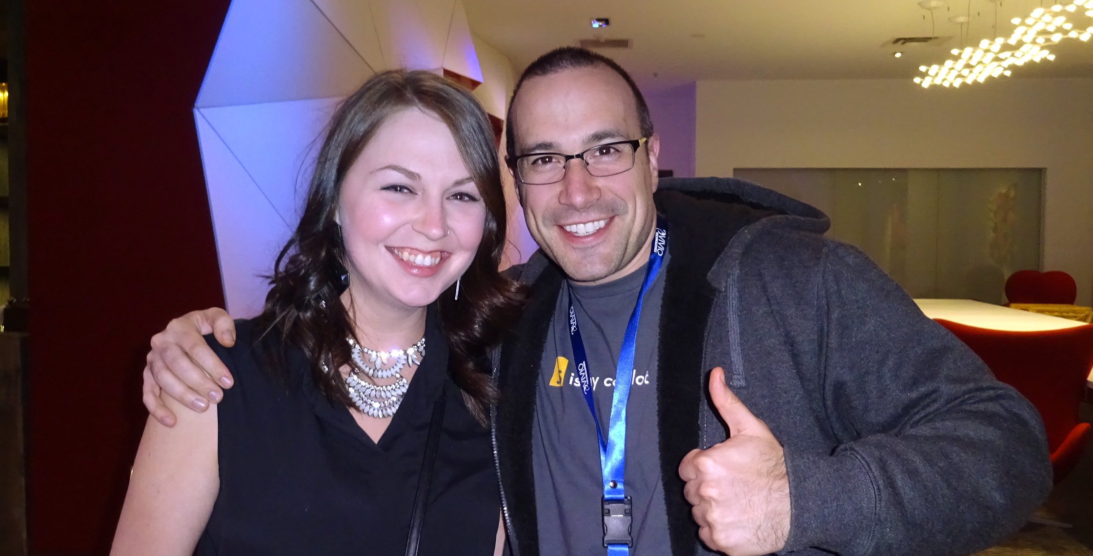 Ben Nadel at dev.Objective() 2015 (Bloomington, MN) with: Justine Arreche