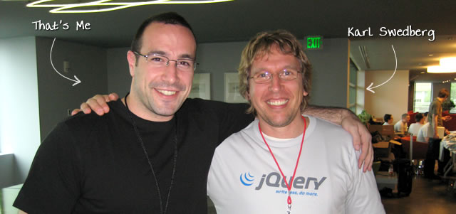 Ben Nadel at the jQuery Conference 2009 (Cambridge, MA) with: Karl Swedberg