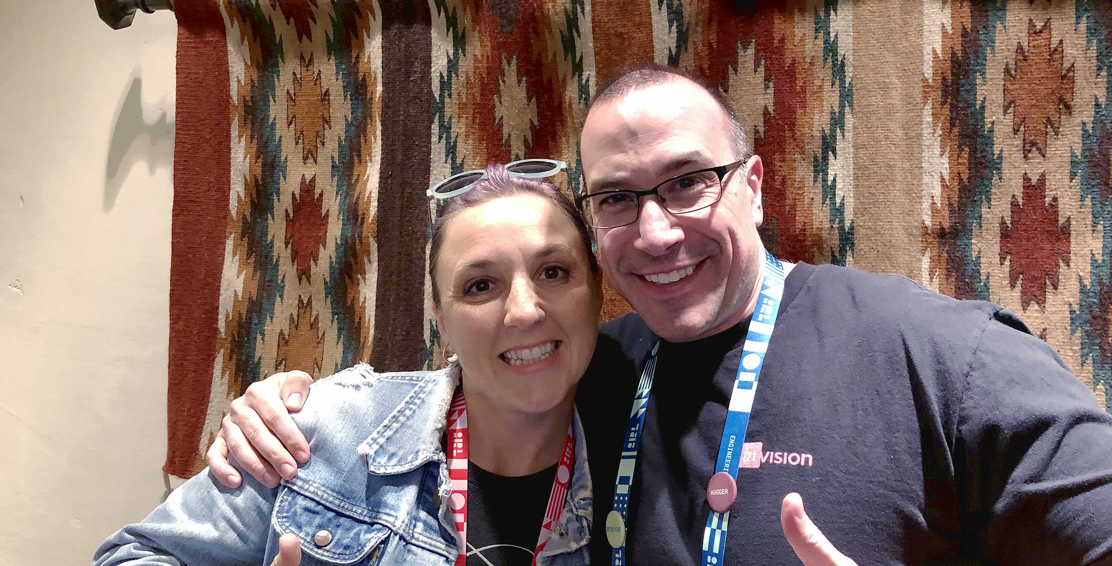 Ben Nadel at InVision In Real Life (IRL) 2019 (Phoenix, AZ) with: Katie Glenn