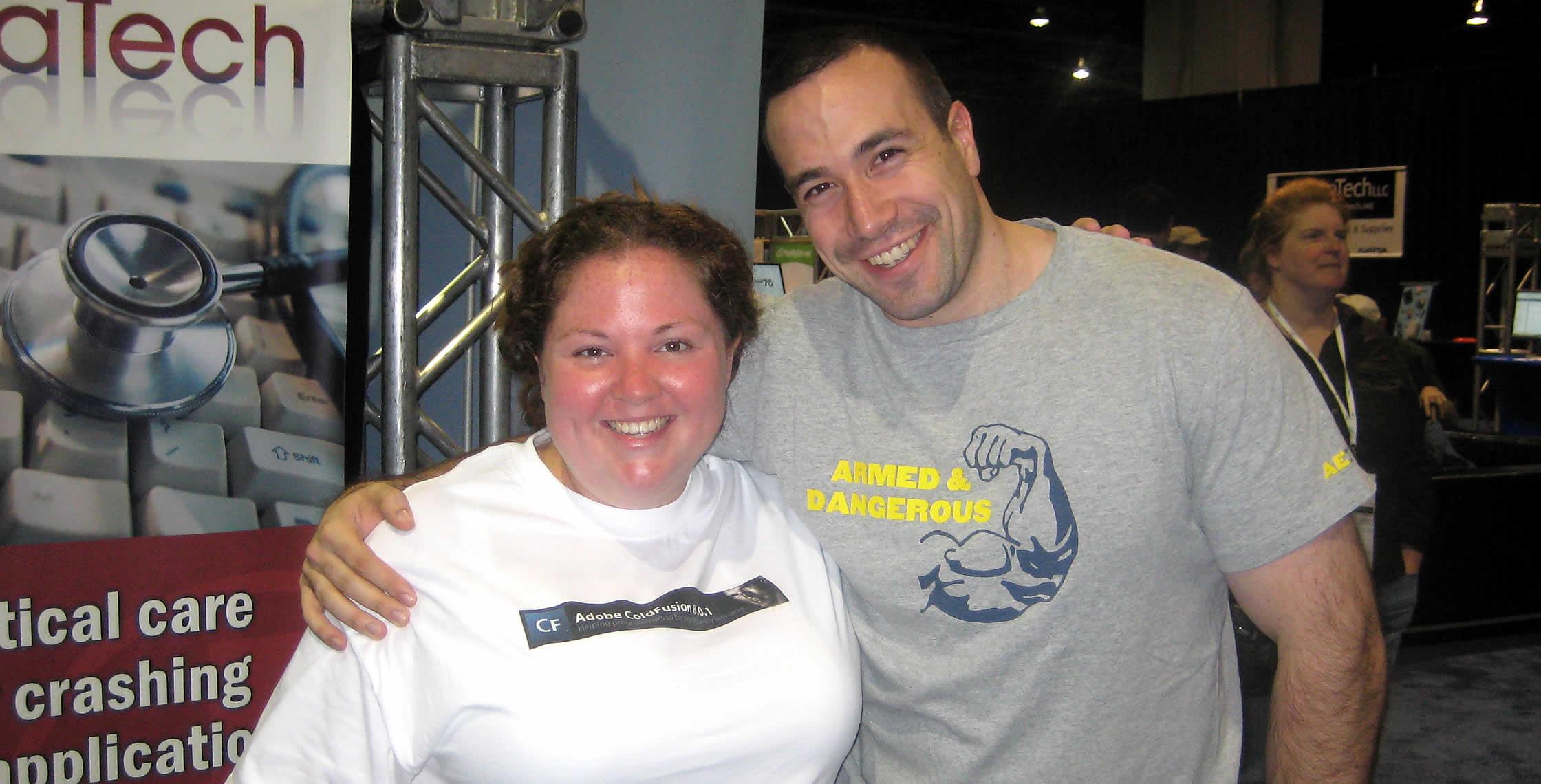 Ben Nadel at CFUNITED 2008 (Washington, D.C.) with: Katie Maher