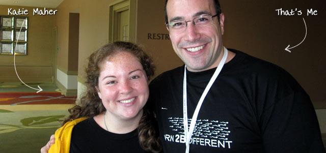 Ben Nadel at CFUNITED 2010 (Landsdown, VA) with: Katie Maher