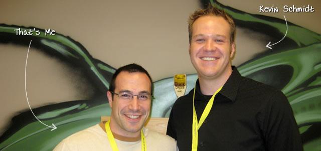 Ben Nadel at BFusion / BFLEX 2009 (Bloomington, Indiana) with: Kevin Schmidt