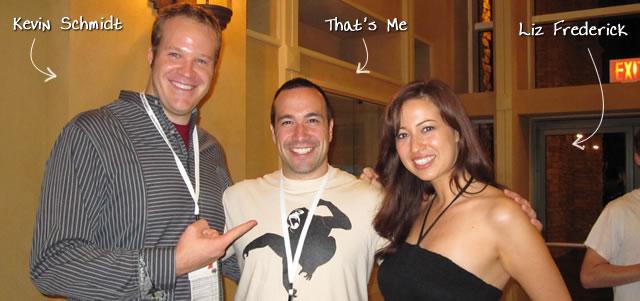 Ben Nadel at CFUNITED 2010 (Landsdown, VA) with: Kevin Schmidt and Liz Frederick